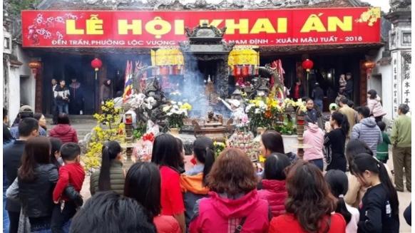 Nam Định: Dừng tổ chức Lễ hội Khai ấn đền Trần dịp Xuân Tân Sửu năm 2021