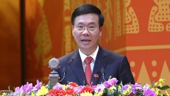 Đồng chí Võ Văn Thưởng báo cáo kết quả bầu cử Đại hội đại biểu toàn quốc lần thứ XIII của Đảng