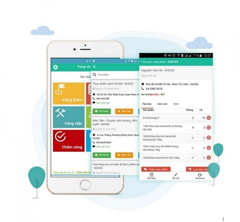 Hệ thống phần mềm Oracle, Mobile app tại TTPP thuốc