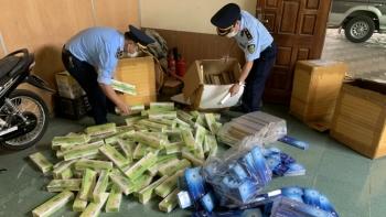 Nghệ An: Phát hiện 3.350 bao thuốc lá nghi nhập lậu