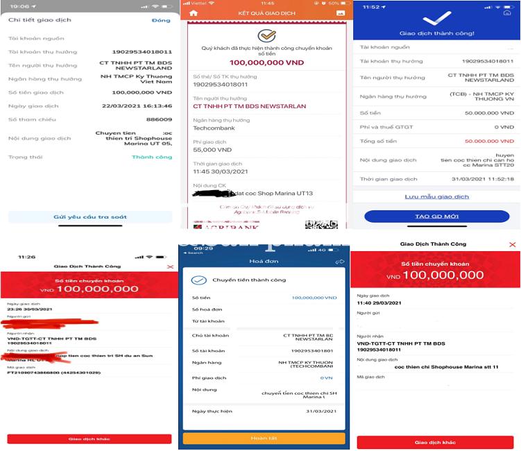 Các sàn giao dịch BĐS tổ chức nhận cọc của khách hàng với số tiền từ 20.000.000 đồng - 100.000.000 đồng.