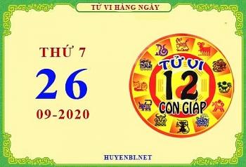 Tử vi Phương Đông 12 con giáp thứ 7 ngày 26/9/2020
