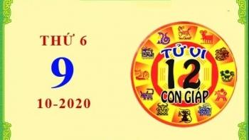 Tử vi Phương Đông 12 con giáp Thứ 6 ngày 9/10/2020