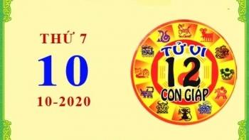Tử vi Phương Đông 12 con giáp Thứ 7 ngày 10/10/2020