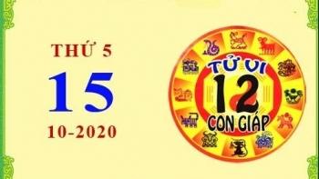 Tử vi Phương Đông 12 con giáp Thứ 5 ngày 15/10/2020