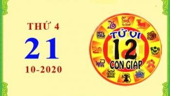 Tử vi Phương Đông 12 con giáp Thứ 4 ngày 21/10/2020