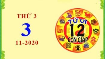 Tử vi Phương Đông 12 con giáp thứ 3 ngày 3/11/2020