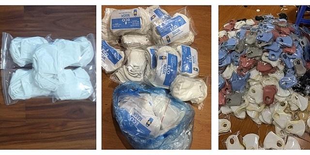 Nhiều loại khẩu trang kháng khuẩn không có tem, nhãn mác, nguồn gốc xuất xứ được giao bán tràn lan