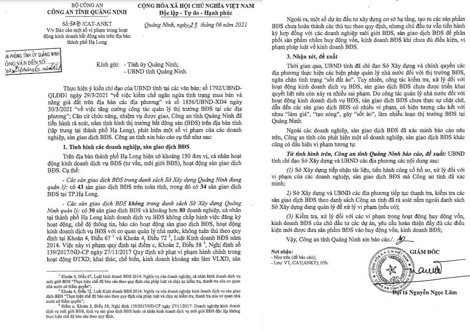 """Sốt đất ở Quảng Ninh vì hàng chục sàn bất động sản hoạt động chui, câu kết """"làm giá"""""""